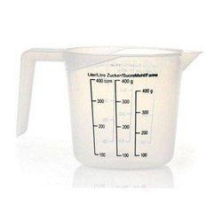 Kubek plastikowy z miarką 400ml - miarka kuchenna 0,4l - dzbanek z uchem