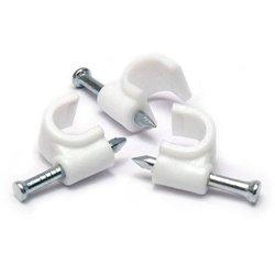 Zestaw 80szt - Uchwyt do kabli z gwoździem 6,7,8,9mm CC80W - biały