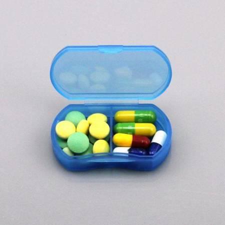 Pojemnik na leki - Mini pudełko z 2 przegródkami - Organizer