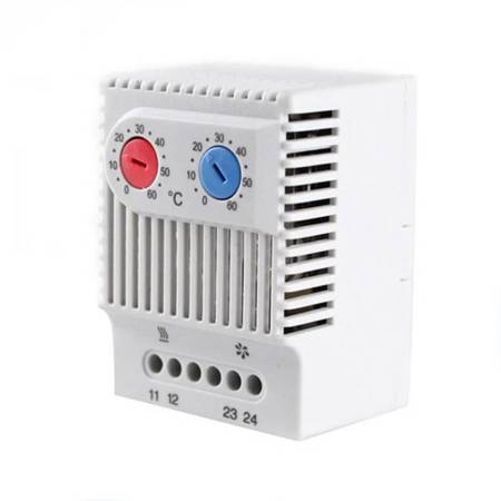 Termostat podwójny - 0° 60°C - NC NO - ZR 011 - 230VAC - regulator