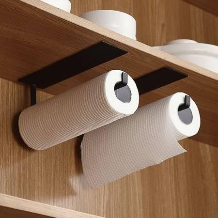 Wieszak na papier - biały - Uchwyt kuchenny na ręczniki folie